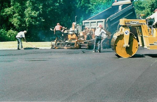 Public Works Workers Paving a Street
