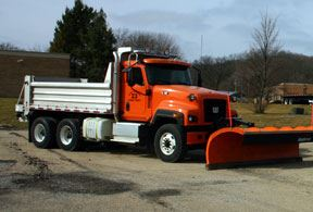 Orange Snow Plow Truck