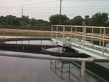 Walkway at Wastewater Treatment Plant