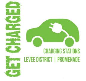 Get Charged - Charging Stations, Levee District, Promenade Logo